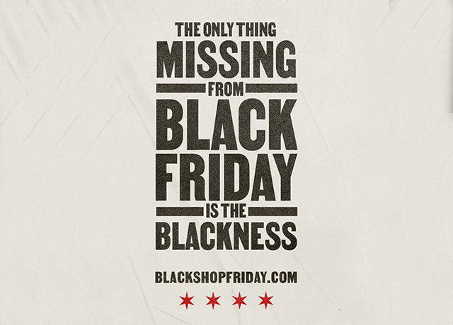 Chicago turns Black Friday into Black Shop Friday
