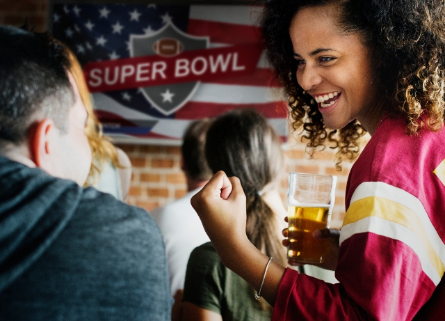 Super Bowl consumer spending down