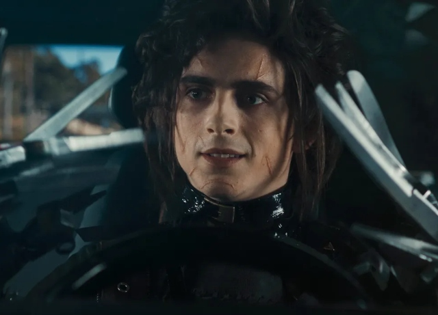 Not Edward, Edgar Scissorhands in Cadillac LYRIQ