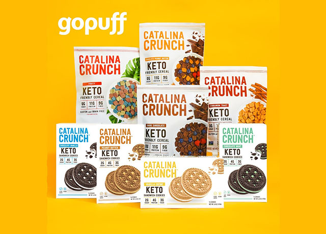 Catalina Snacks Keto-friendly cereals uses Gopuff delivery