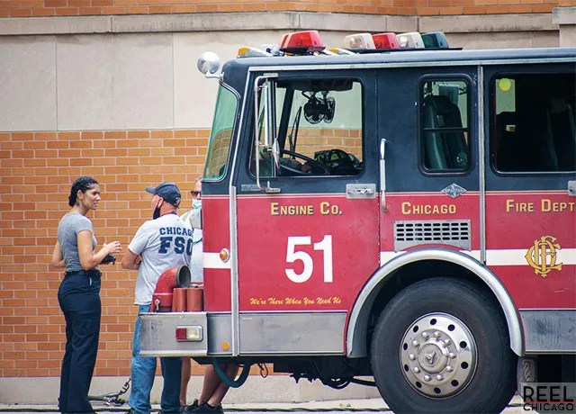 Exclusive photos of Chicago Fire first day of filming