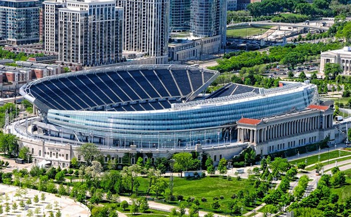 The Bears are on track to leave their Soldier Field home of 50 years