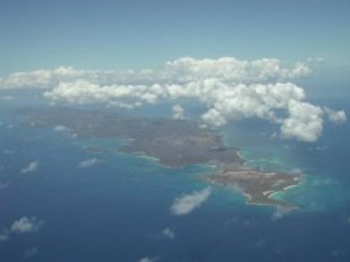 aerial  shot of Vieques, Puerto Rico