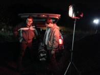 Josh & Tom wait to shoot (again!) - Cosmos Night Exterior Field