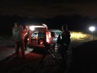 Actor and camera blocking - Cosmos Night Exterior Field