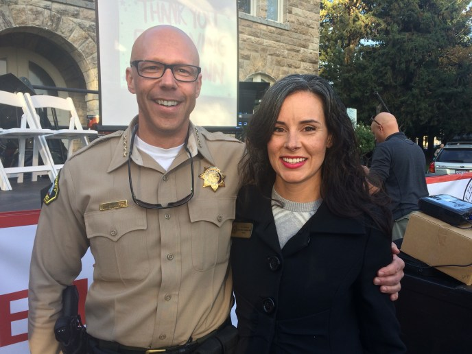 With Sheriff Rob at our Gratitude Celebration