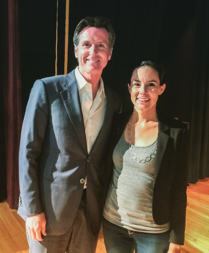 With Lt. Gov. Gavin Newsom at the Sonoma County Conservation Action Annual Gala