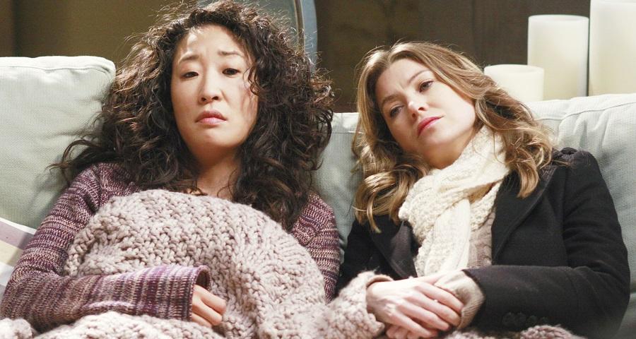 "Sandra Oh and Ellen Pompeo in ""Grey's Anatomy"""