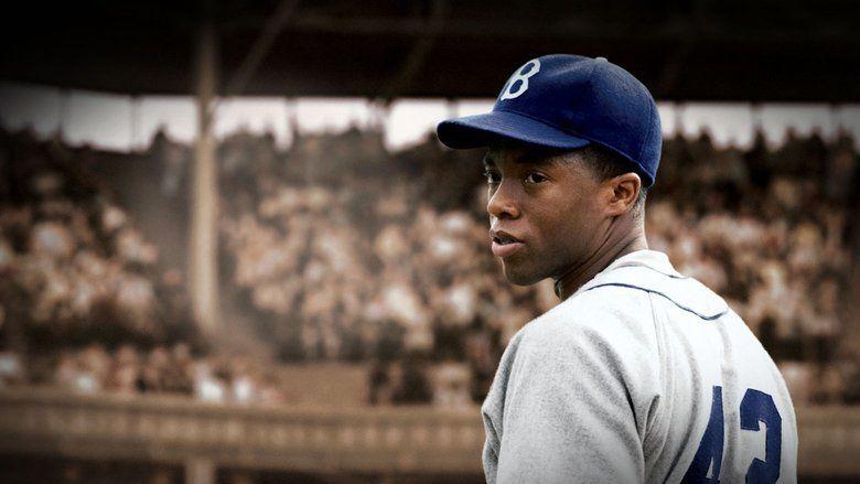 Chadwick Boseman in 42 the baseball biopic from Warner Bros.