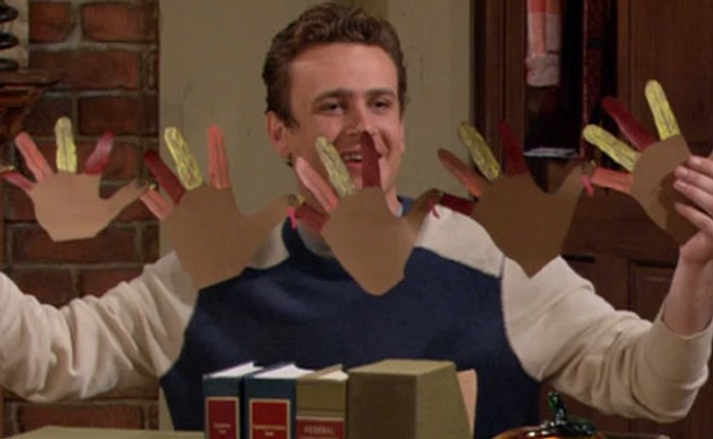 Jason Segel in How I Met Your Mother's Thanksgiving Episode Slapsgiving