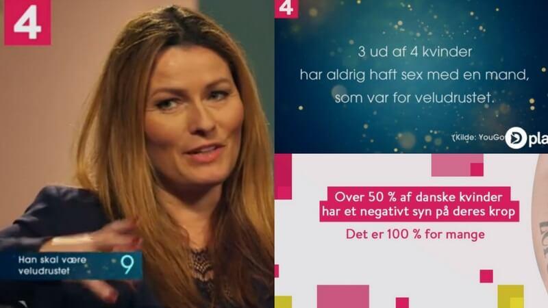 Anne Sophia Hermansen og 19 andre kendte kvinder fortæller i nyt Kanal 4-program, hvad de synes om mænds udseende. Billede: Facebook.com/Kanal4dk.