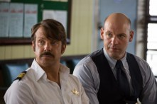 (L-R) Jason Sudeikis as Jim Hoffman and Corey Stoll as Special Agent Benedict Tisa in Universal Pictures Content Group's crime thriller comedy DRIVEN. Photo courtesy of Universal Pictures Content Group.