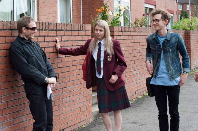 Stuart Murdoch, Hannah Murray and Olly Alexander On Set