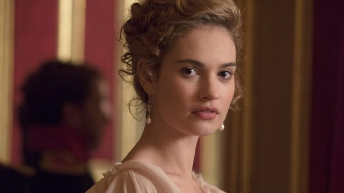 Lily James as Natasha Rostov
