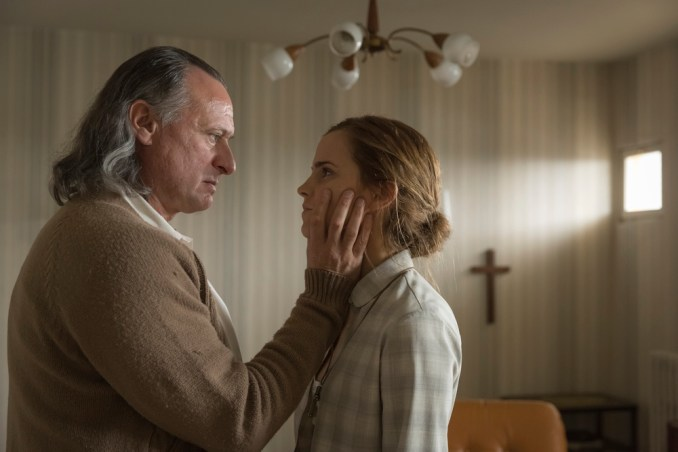 Michael Nyqvist and Emma Watson in The Colony (2015)