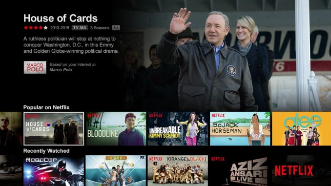 Netflix Screen House of Cards