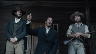 """(From L-R:) Armie Hammer as """"Samuel Turner"""" Nate Parker as """"Nat Turner"""" and Jayson Warner Smith as """"Earl Fowler"""" in THE BIRTH OF A NATION. Photo courtesy of Fox Searchlight Pictures. © 2016 Twentieth Century Fox Film Corporation All Rights Reserved"""