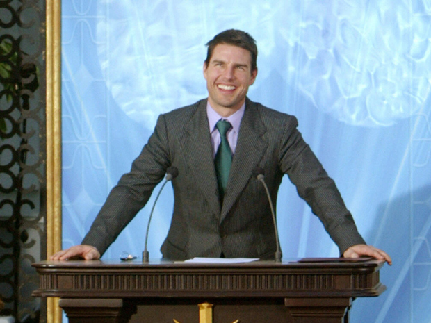US actor, Tom Cruise smiles during the i