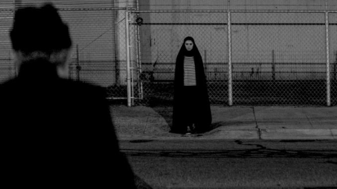 a girl walks home at night