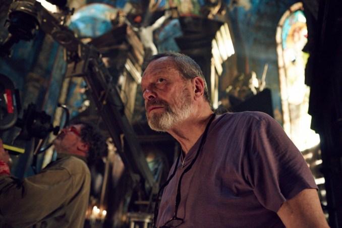Terry Gilliam on set