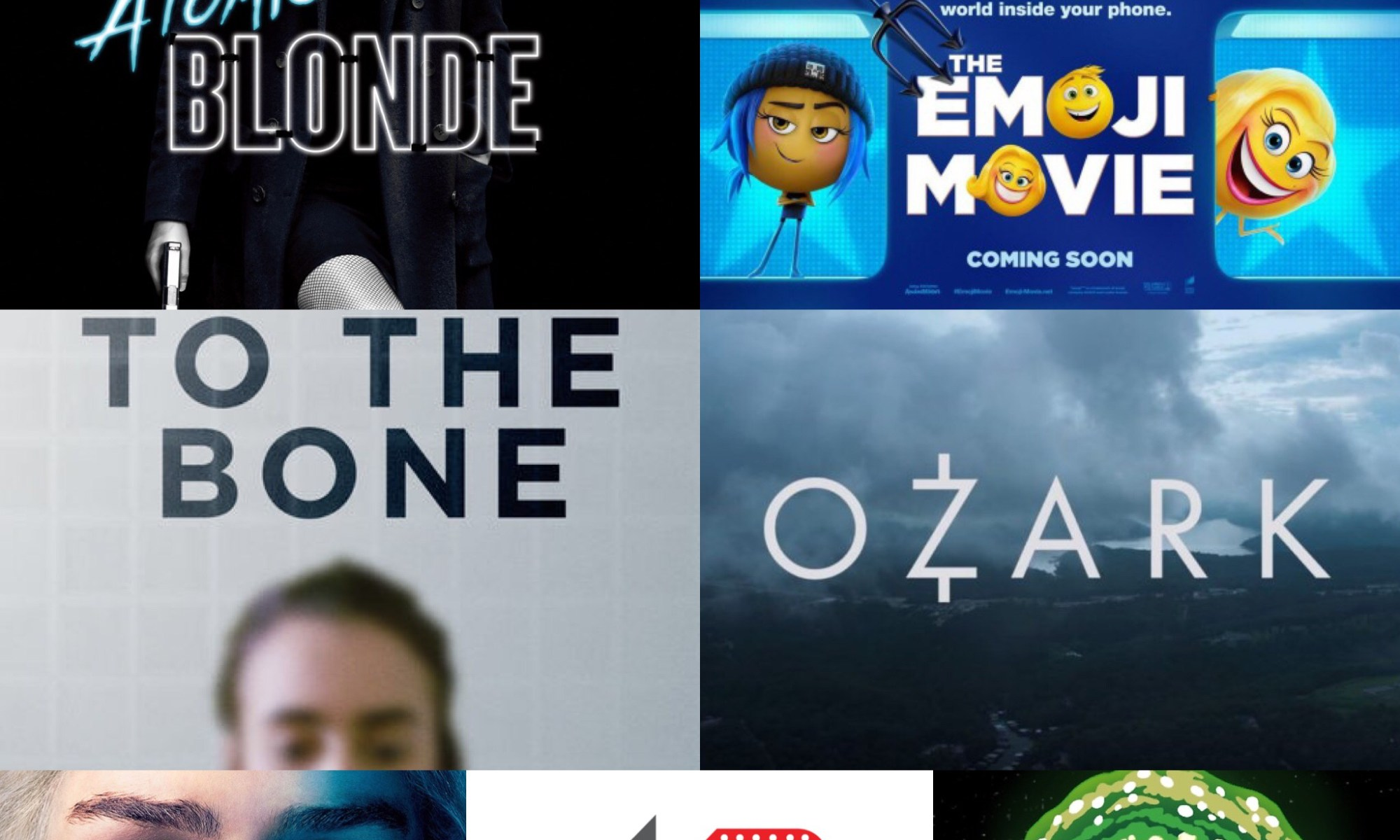 The reel review podcast tube talk movie and film review Atomic Blonde The emoji Movie Netflix to the bone