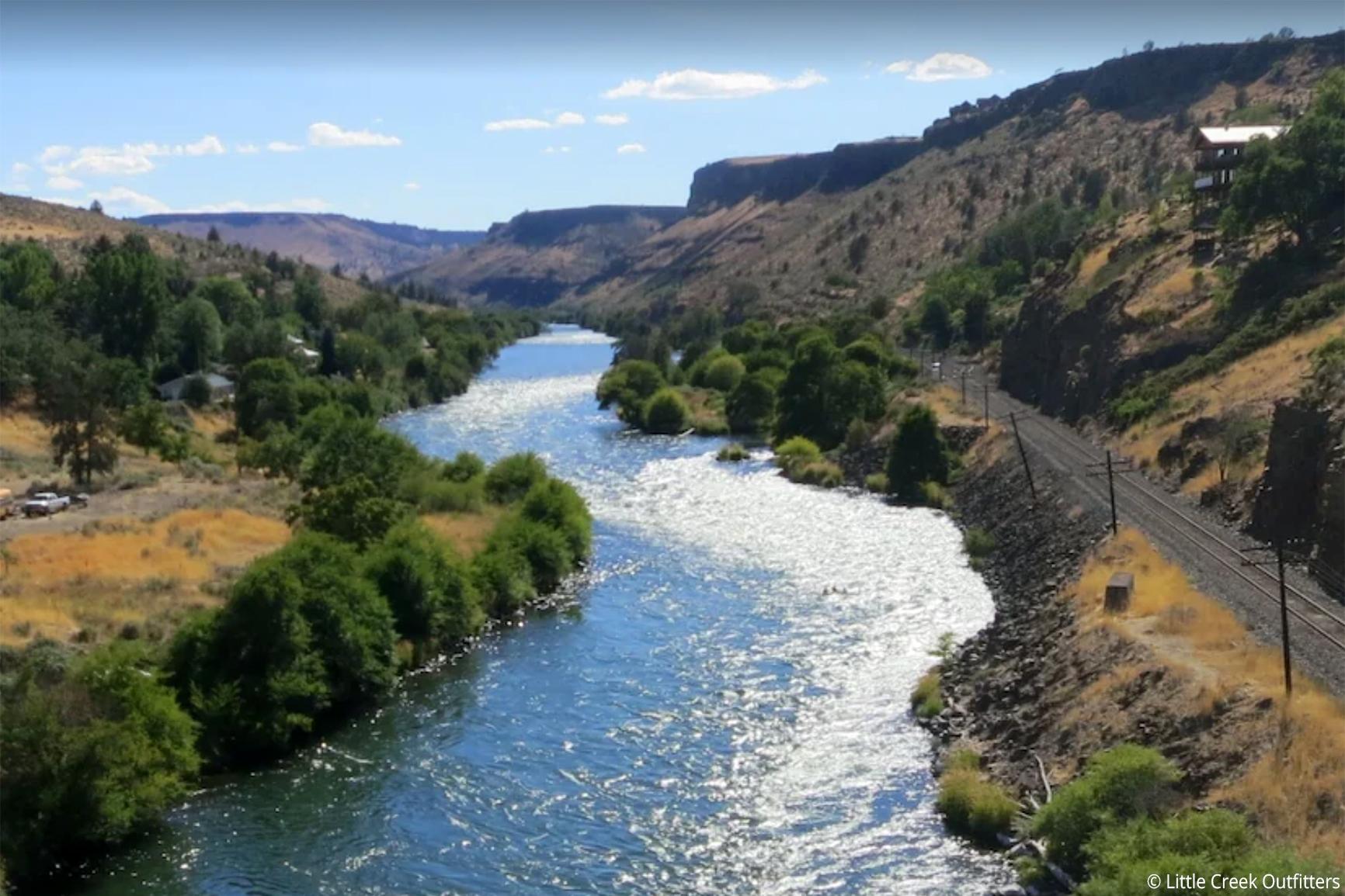 View From Deschutes River Bridge