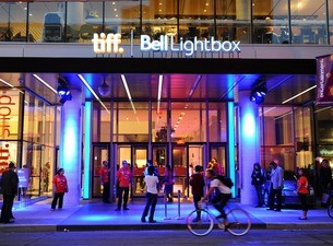 Exterior photo of the TIFF Bell Lightbox cinema in Toronto