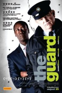 Promotional poster for The Guard, a 2011 comedy and crime film starring Brendan Gleeson and Don Cheadle. Directed by John Michael McDonagh.