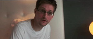 Screenshot from the trailer of the 2014 documentary, Citizenfour, concerning Edward Snowden and the NSA leaks. Directed by Laura Poitras.
