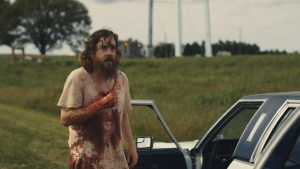 A still from the 2014 thriller revenge story Blue Ruin, starring Macon Blair, Devin Ratray and Amy Hargreaves. Directed by Jeremy Saulnier.