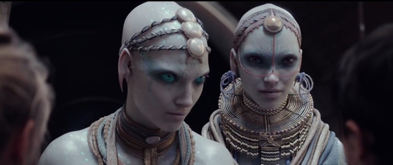 "Alien creatures known as ""The Pearls"" in a scene from Luc Besson's 2017 sci-fi movie, Valerian and The City of A Thousand Planets."