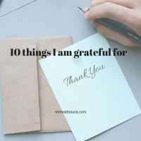 10 things I am grateful for