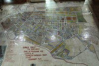A map of District Six at the District Six Museum
