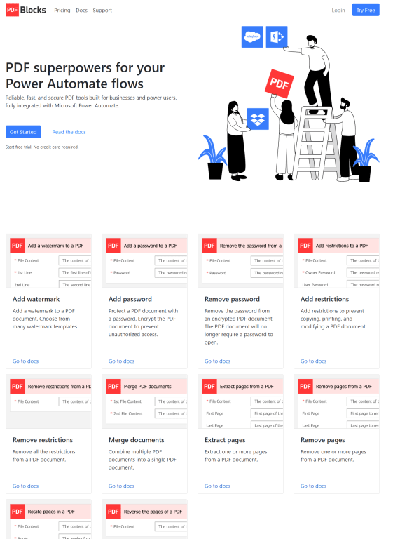 Really impressive documentation - check it out!  https://www.pdfblocks.com/power-automate