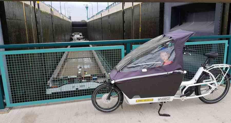 Urban arrow regendach uv beständigkeit lastenrad cargobike minden weserschleuse
