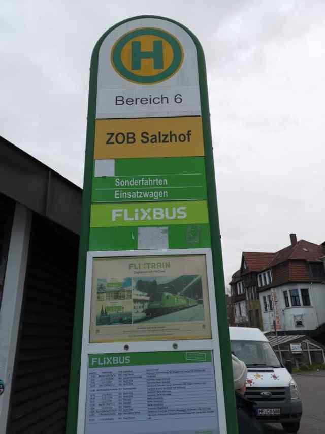 Flixbus Haltestelle Bad Oeynhausen