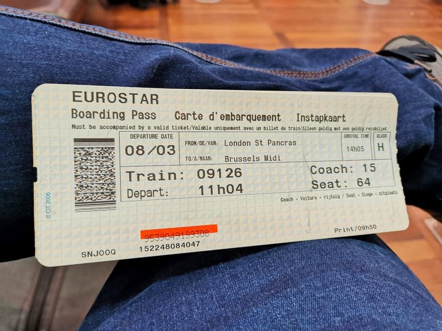 Eurostar Boardkarte