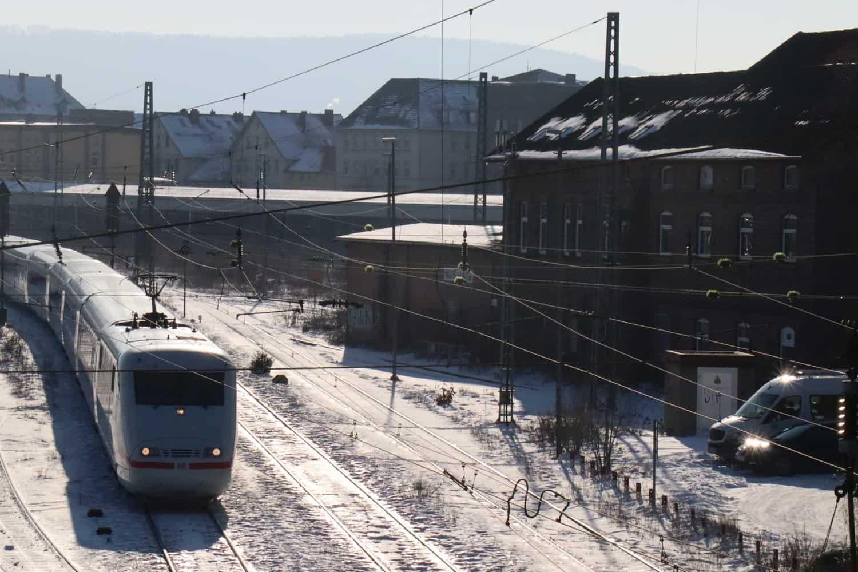 Bahnhof Minden im Winter