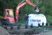 Cistern installation: 1700 Gallon