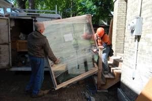 window being delivered