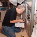checking furnace in home energy evaluation