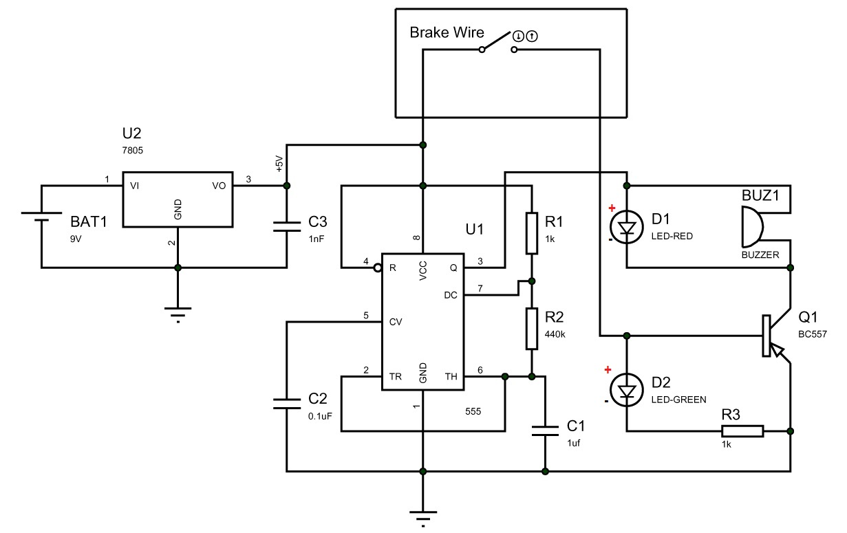 Making A Break Failure Indicator Using 555 Timer Ic