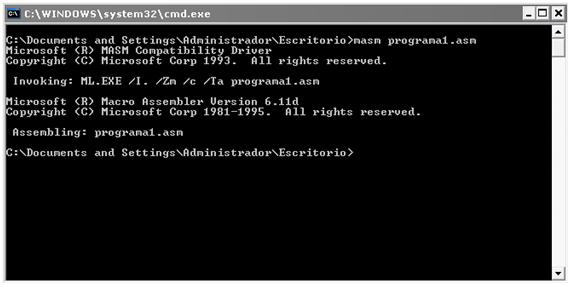[Lenguaje Ensamblador] Acerca del funcionamiento de la ejecución de programas ASM desde la línea de comandos de Windows XP SP2 (O ¿Como ejecutar programas correctamente en el MASM? :P) (3/6)