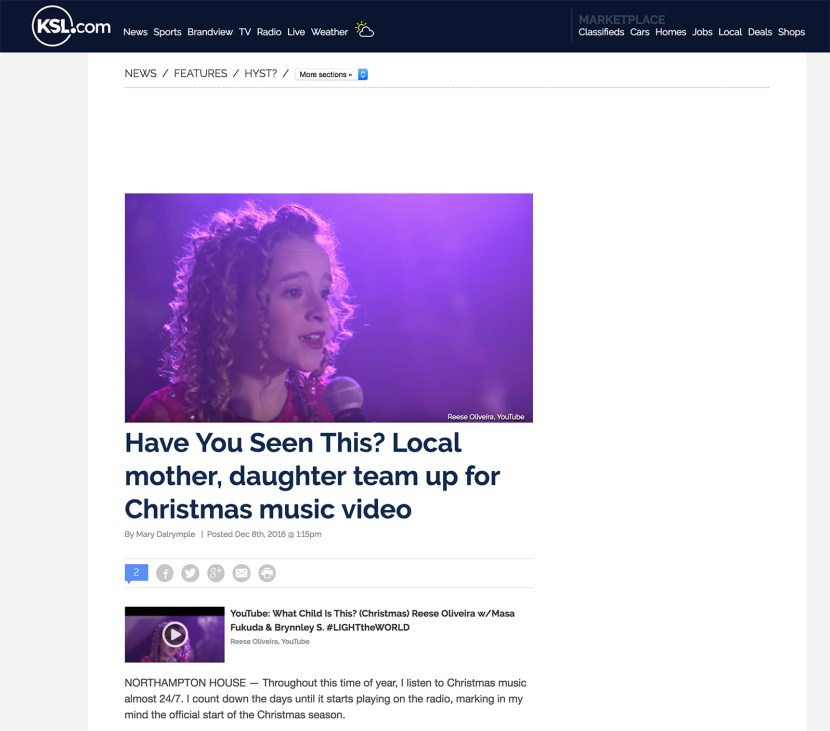 KSL: Have You Seen This? Feature!   Reese Oliveira