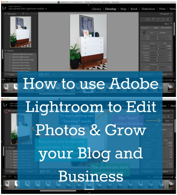 How to use Adobe Lightroom to Edit Photos and Grow your Blog and Business 1