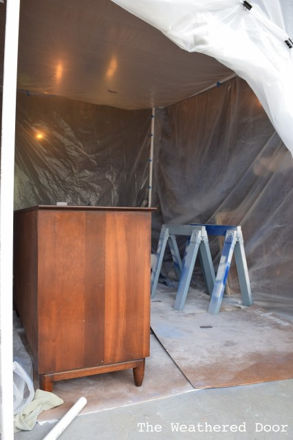 How I started Spraying Furniture - DIY pcp pipe spray booth WD-1