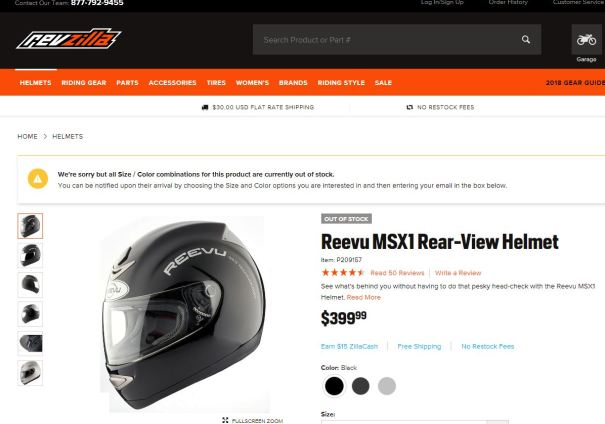 Revzilla likes our helmet they cant keep it in stock