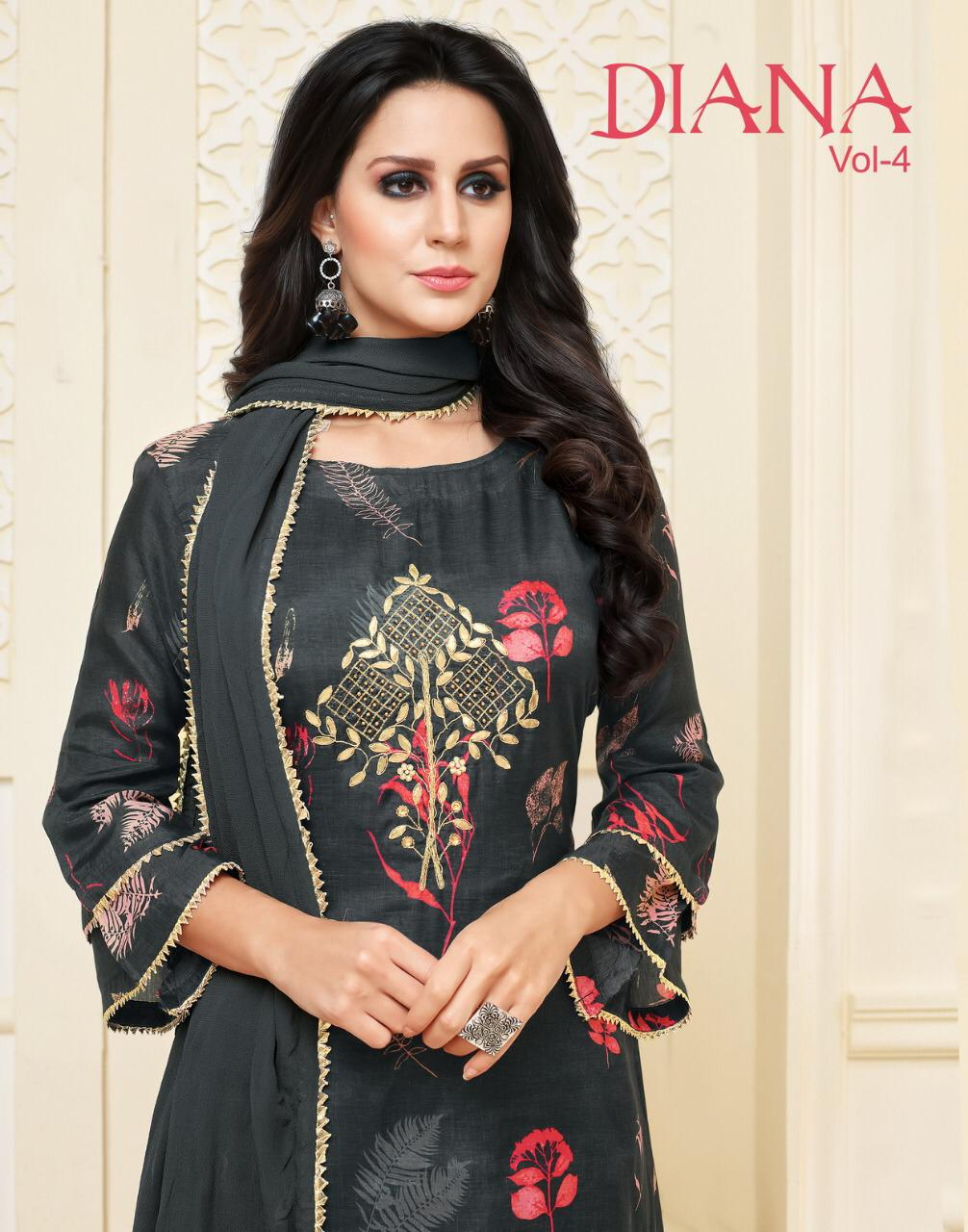 f5fe601ebe ANGROOP PLUS DIANA VOL 4 MASLIN SILK CASUAL WEAR DRESS COLLECTION ...