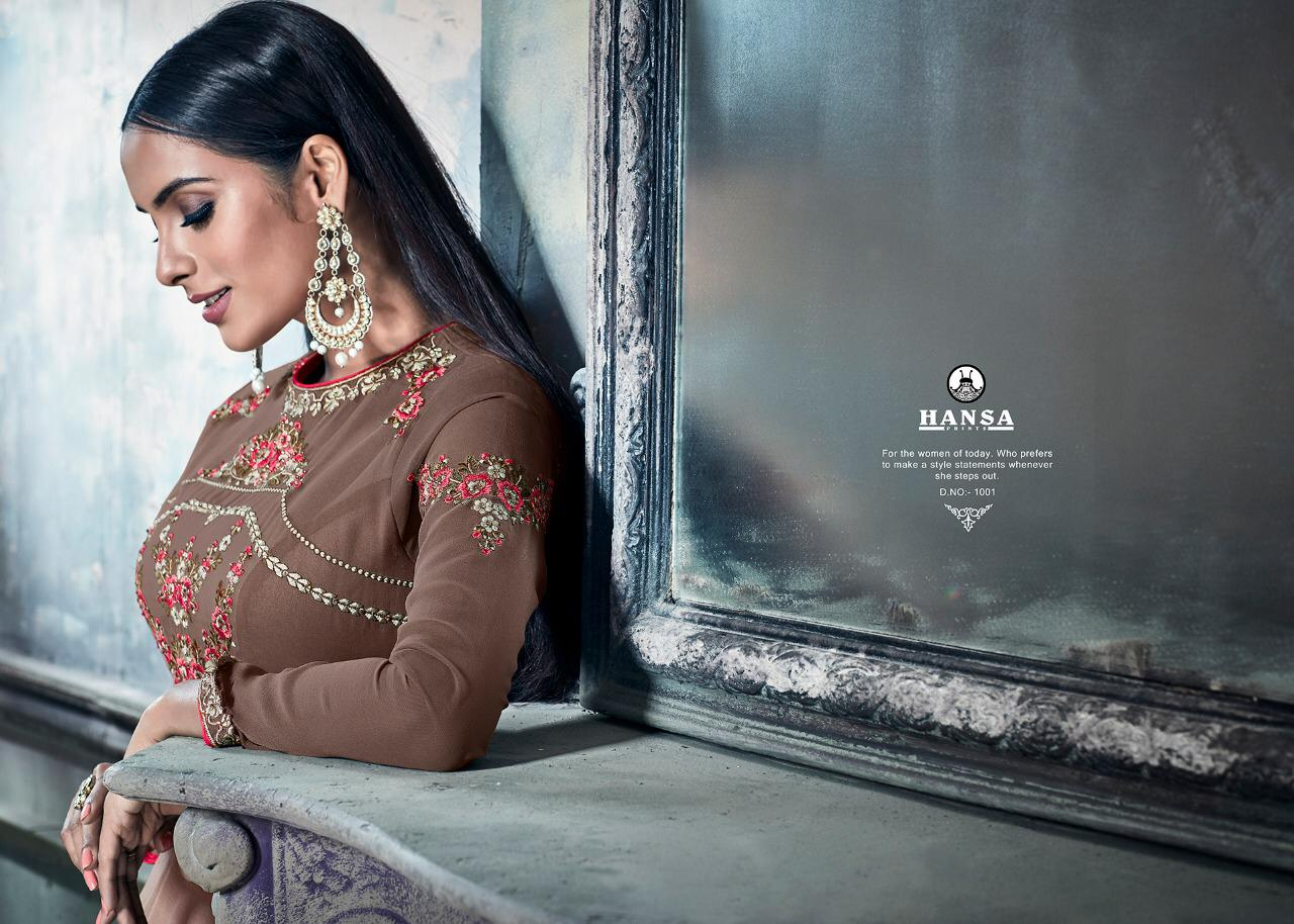 5535e0d5e5 HANSA PRESENTS HUSNA LIBAS 1001-1006 SERIES LONG ANARKALI SUITS ...