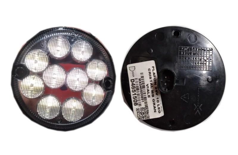 PLAFON 24V 10 LED CRISTAL MB GRAN VIALE